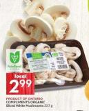 Compliments Organic Sliced White Mushrooms 227 g
