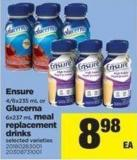 Ensure - 4/6x235 Ml Or Glucerna - 6x237 Ml Meal Replacement Drinks