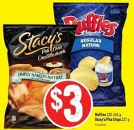 Ruffles 220-245 g Stacy's Pita Chips 227 g