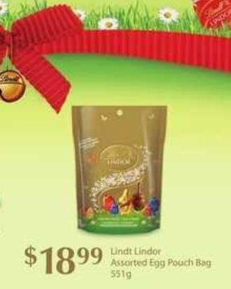 Lindt Lindor Assorted Egg Pouch Bag