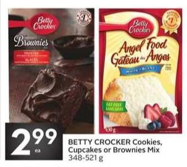 Betty Crocker Cookies - Cupcakes or Brownies Mix