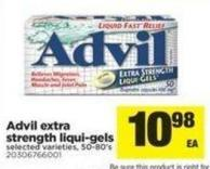 Advil Extra Strength Liqui-gels - 50-80's