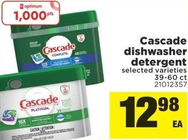 Cascade Dishwasher Detergent - 39-60 Ct