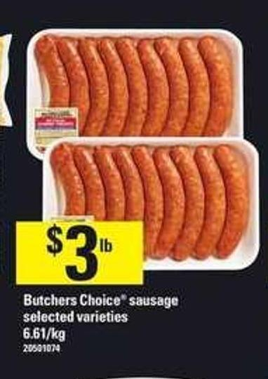 Butchers Choice Sausage - 6.61/kg
