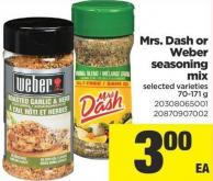 Mrs. Dash Or Weber Seasoning Mix - 70-171 g