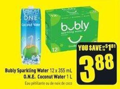 Bubly Sparkling Water 12 X 355 Ml On Sale Salewhaleca