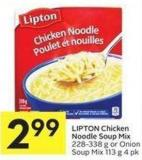 Lipton Chicken Noodle Soup Mix 228-338 g or Onion Soup Mix 113 g 4 Pk