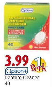 Option+ Denture Cleaner 40
