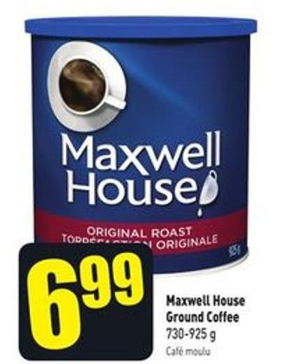 Maxwell House Ground Coffee 730-925 g