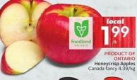Product Of Ontario Honeycrisp Apples