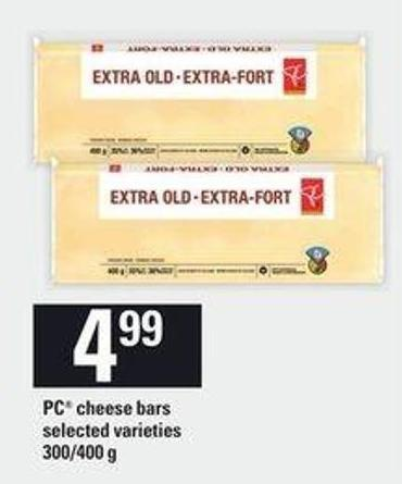 PC Cheese Bars - 300/400 G