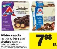 Atkins Snacks - 140-300 G - Bars - 5's Or Shakes - 4x325 Ml