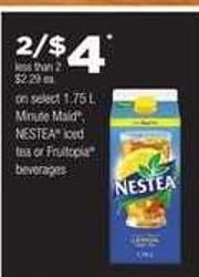 Minute Maid - Nestea Iced Tea Or Fruitopia Beverages - 1.75 L