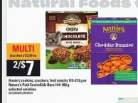 Annie's Cookies - Crackers - Fruit Snacks - 115-213 G Or Nature's Path Envirokidz Bars - 144-168 G