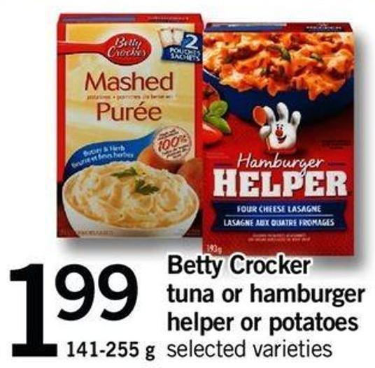 Betty Crocker Tuna Or Hamburger Helper Or Potatoes - 141-255 G
