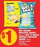 No Name Potato Chips - 200 g or Go 2 Snax Kettle Potato Chips - 160 g
