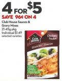 Club House Sauces &  Gravy Mixes  21-45g Pkg