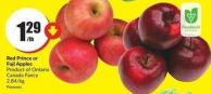 Red Prince or Fuji Apples