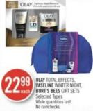 Olay Total Effects - Vaseline Winter Night - Burt's Bees Gift Sets