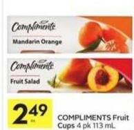 Compliments Fruit Cups