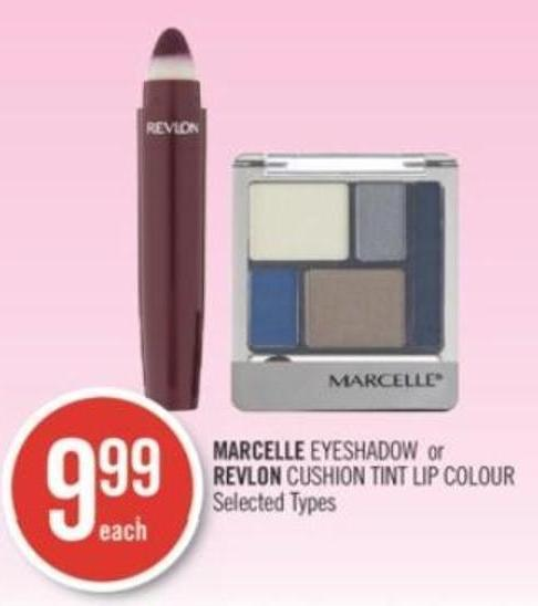 Marcelle Eyeshadow or Revlon Cushion Tint Lip Colour