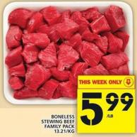 Boneless Stewing Beef Family Pack