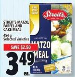 Streit's Matzo - Farfel And Cake Meal