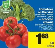 Tomatoes On The Vine Or Broccoli Crowns