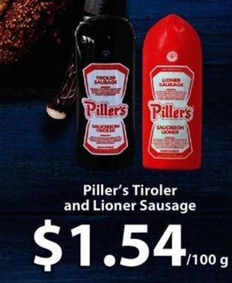 Piller's Tiroler And Lioner Sausage