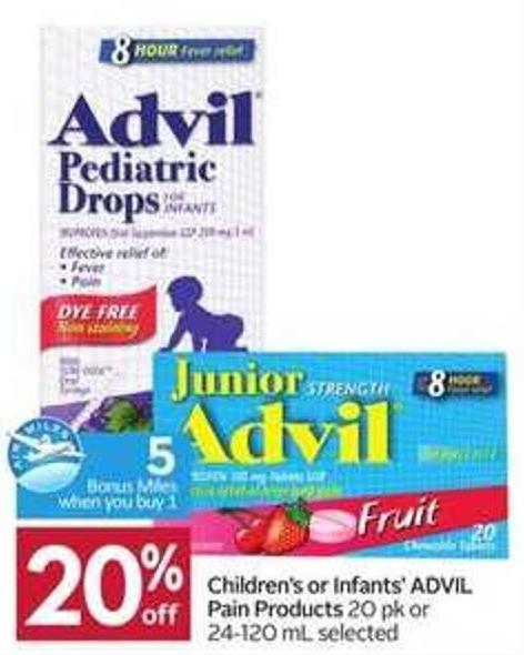 Children's or Infants' Advil Pain Products -5 Air Miles Bonus Miles