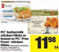 PC Buttermilk Chicken Fillets Or Breast Or PC Free From Chicken Fillets - 750/907 g