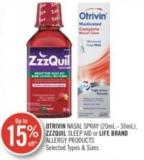 Otrivin Nasal Spray (20ml-30ml) Zzzquil Sleep Aid or Life Brand Allergy Products