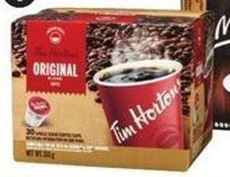 Selected Tim Hortons Coffee Pods - 30-ct