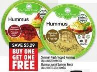 Summer Fresh Topped Hummus