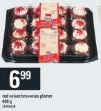 Red Velvet Brownies Platter - 400 g