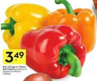 Red - Orange or Yellow Bell Peppers