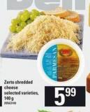 Zerto Shredded Cheese - 140 g