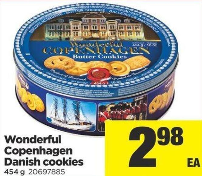 Wonderful Copenhagen Danish Cookies - 454 g