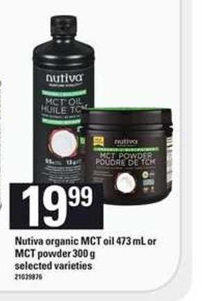 Nutiva Organic Mct Oil - 473 Ml Or Mct Powder - 300 G