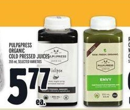 Pulp&press Organic Cold Pressed Juices
