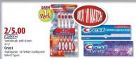 Toothbrush With Cover 4+1/ Crest Toothpaste - 3D White Toothpaste Select Types