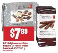 PC Belgian Chocolate Fingers Or Rolled Wafer Hazelnut - 400/600 G