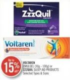 Voltaren (30g - 100) or Zzzquil Sleep Aid Products