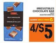 Irresistibles Chocolate Bar