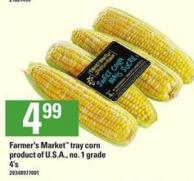 Farmer's Market Tray Corn - 4's