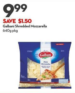 Galbani Shredded Mozzarella 640g