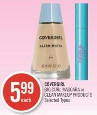 Covergirl Big Curl Mascara or Clean Makeup Products