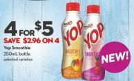 Yop Smoothie 250ml Bottle