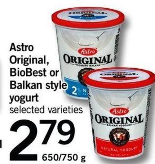 Astro Original - Biobest Or Balkan Style Yogurt - 650/750 G