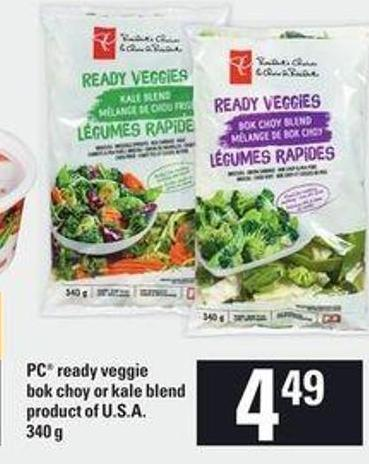 PC Ready Veggie Bok Choy Or Kale Blend - 340 g